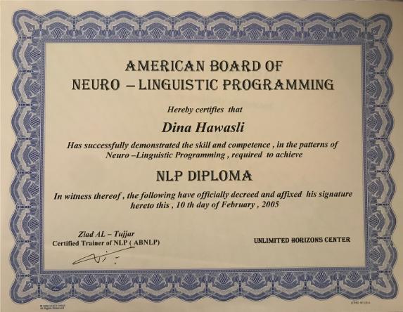 Dina NLP Diploma